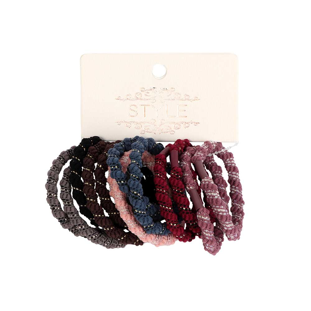 A Set Of Colored Hair Ties13 Beads Of Different Colors متجر 15 وأقل