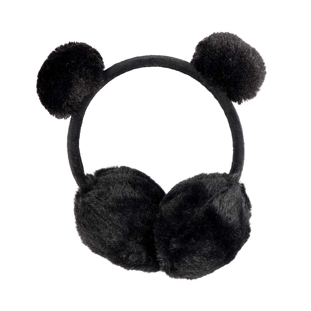 غطاء للأذنين للأطفال فرو لون أسود متجر 15 وأقل