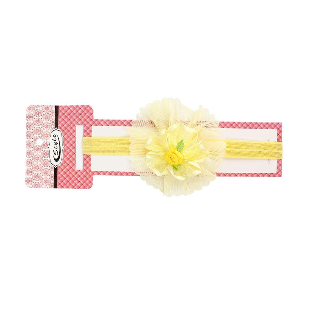 ربطة راس بناتي مزين بورد لون أصفر متجر 15 وأقل