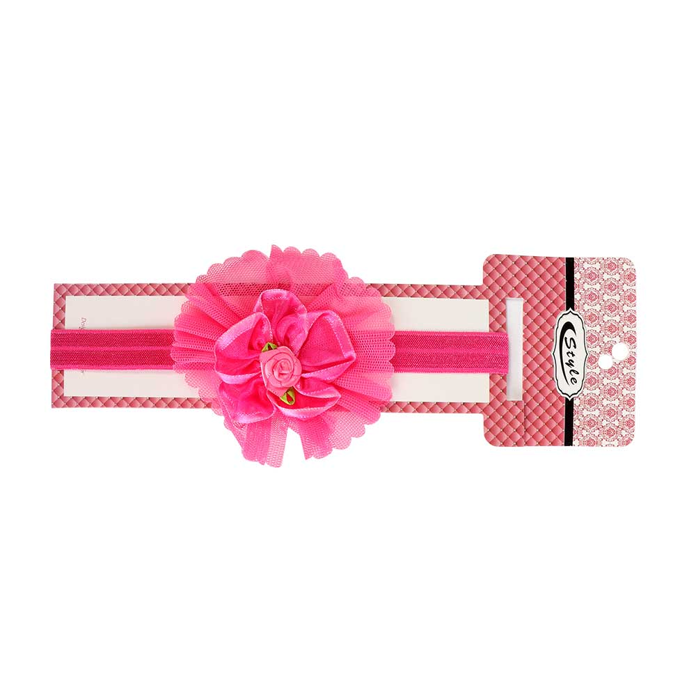 Girls Hair Hoop Decorated With A Roses Color Fuchsia متجر 15 وأقل