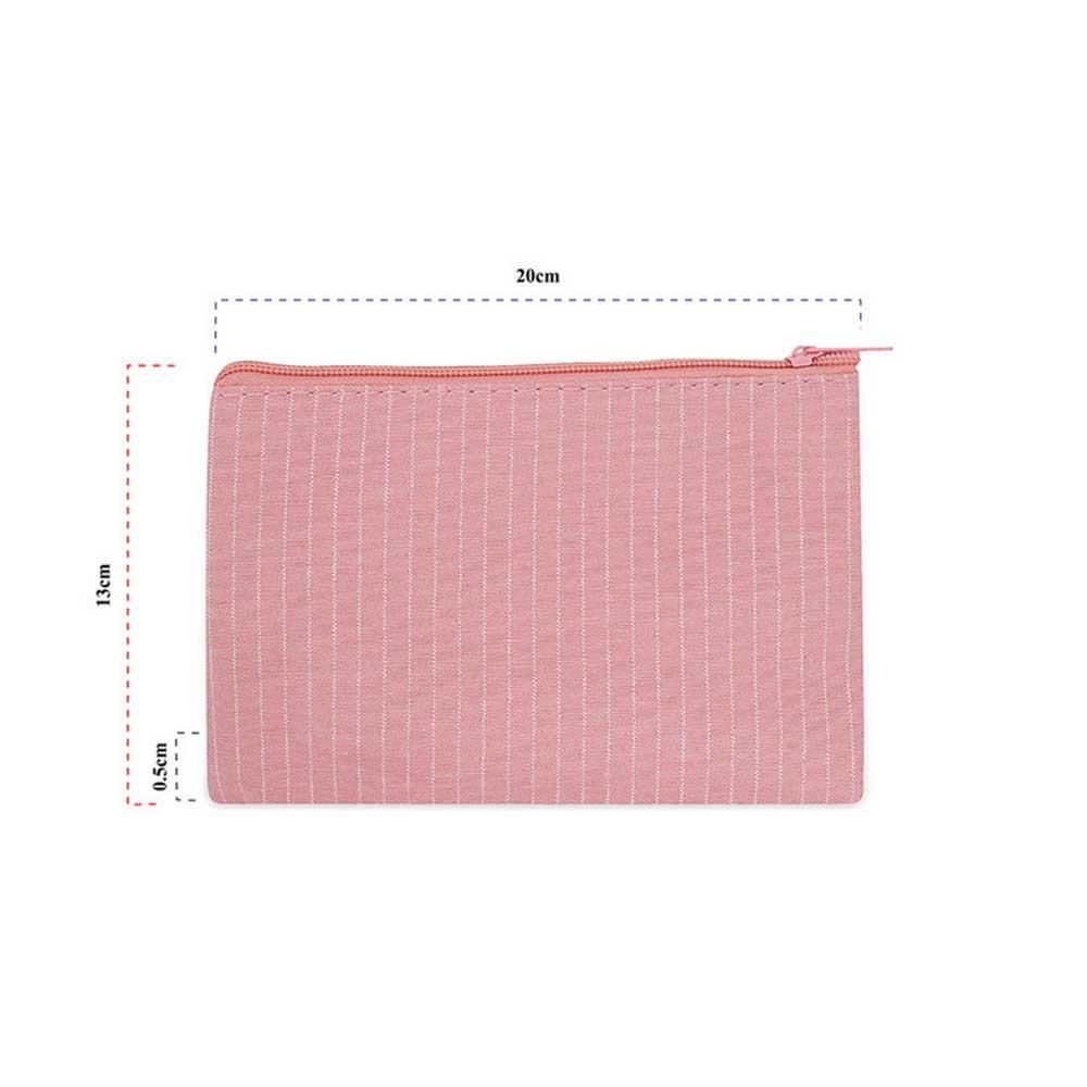 حقيبة منظمة لأدوات التجميل 3 قطع لون وردي متجر 15 وأقل