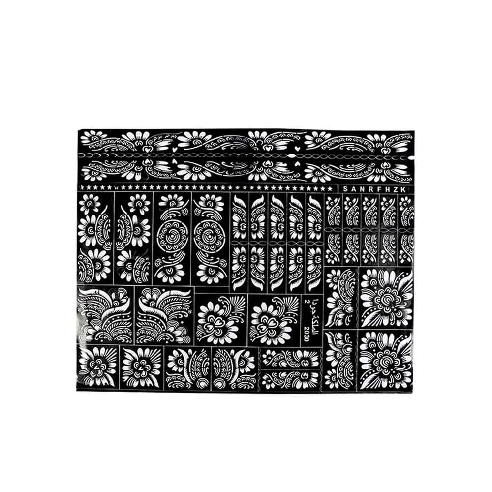 Henna Stencil With Various Irregular Shapes متجر 15 وأقل