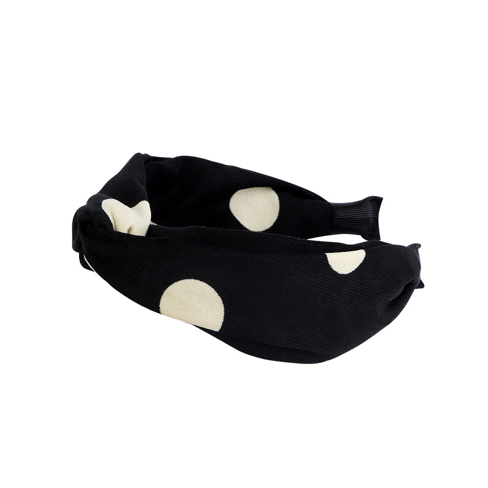Dotted Hair Hoop Color Black متجر 15 وأقل