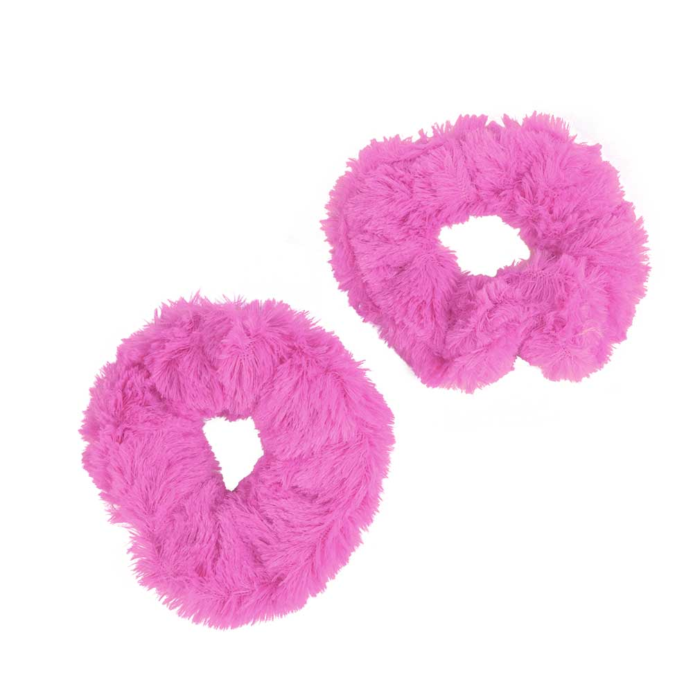 Fur Hair Ties Color Pink Two Pieces متجر 15 وأقل