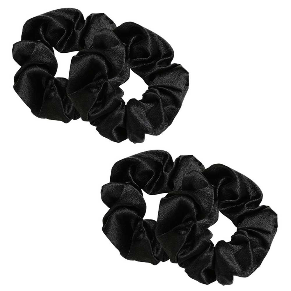 Plush Hair Ties Color Black 4-Pieces متجر 15 وأقل