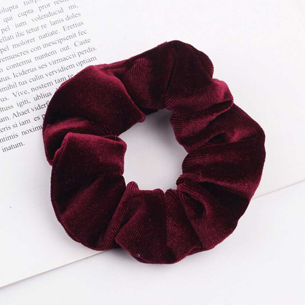 Plush Hair Tie Color Dark Red متجر 15 وأقل