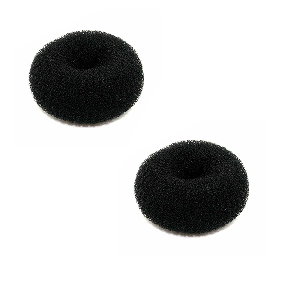 Hair Bun Shaper Color Black Size Medium Two Pieces متجر 15 وأقل