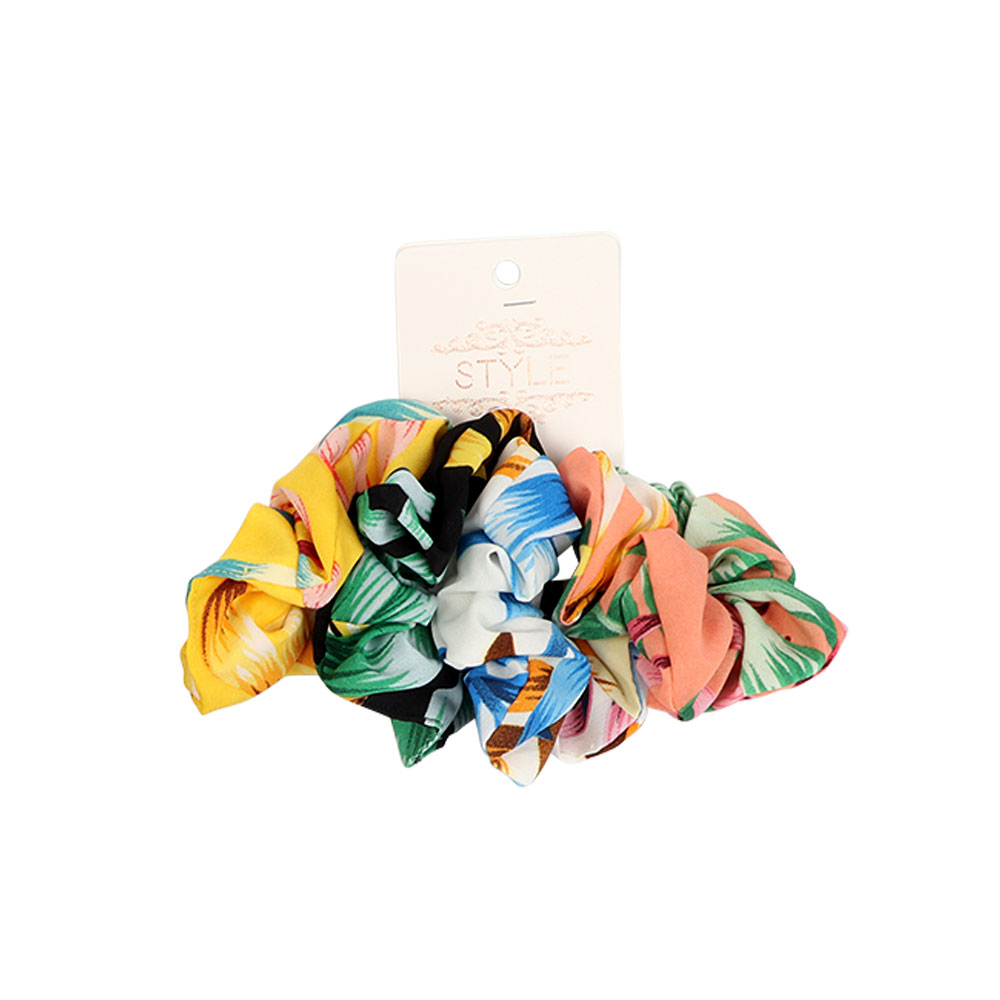 Fabric Elastic Hair Ties - Multi-colored - 4-Pieces متجر 15 وأقل