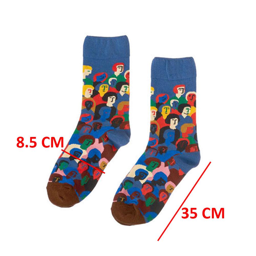 Faces Print Stretch Socks Pair متجر 15 وأقل