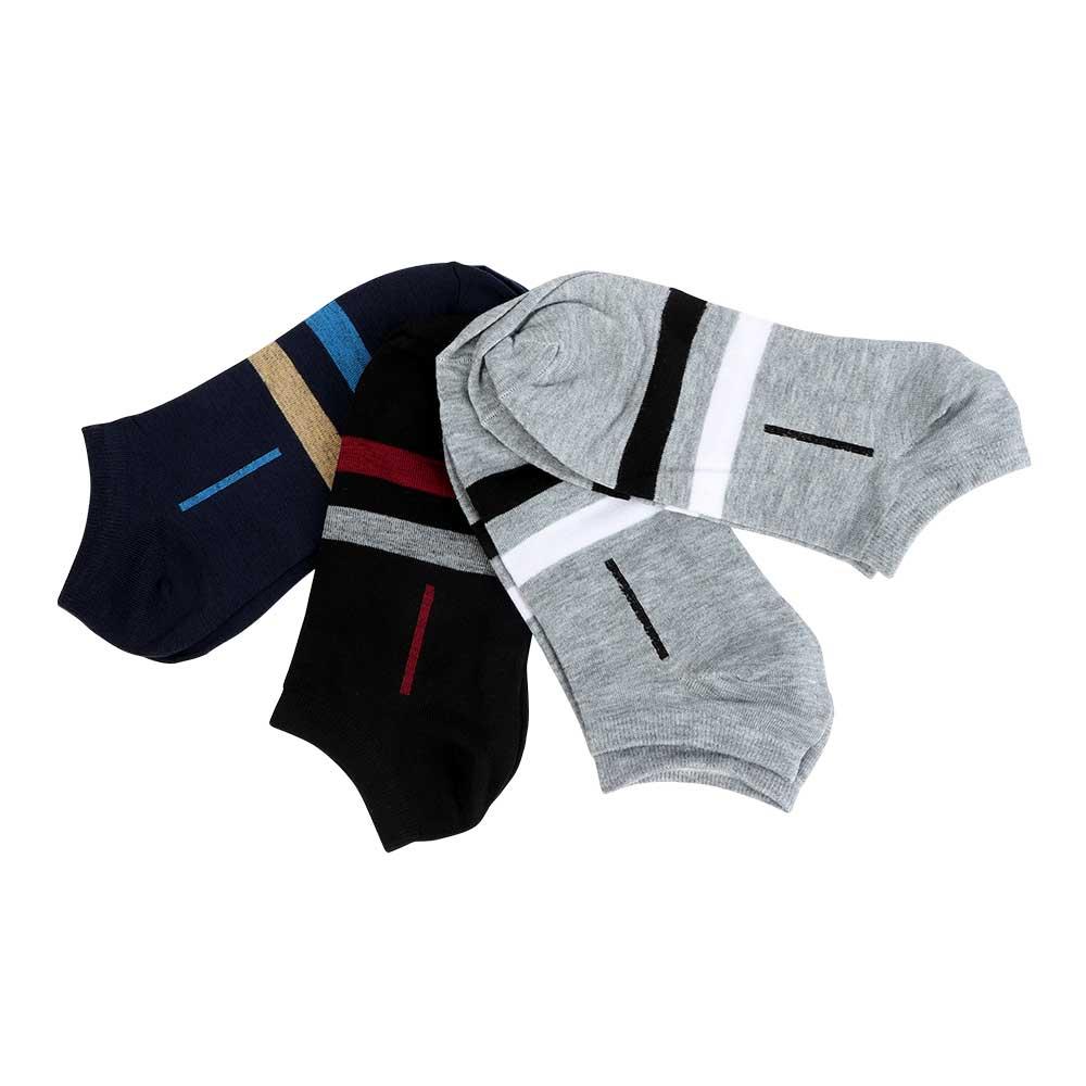 طقم جوارب قصيرة رجالية 4 قطع بخطوط متجر 15 وأقل
