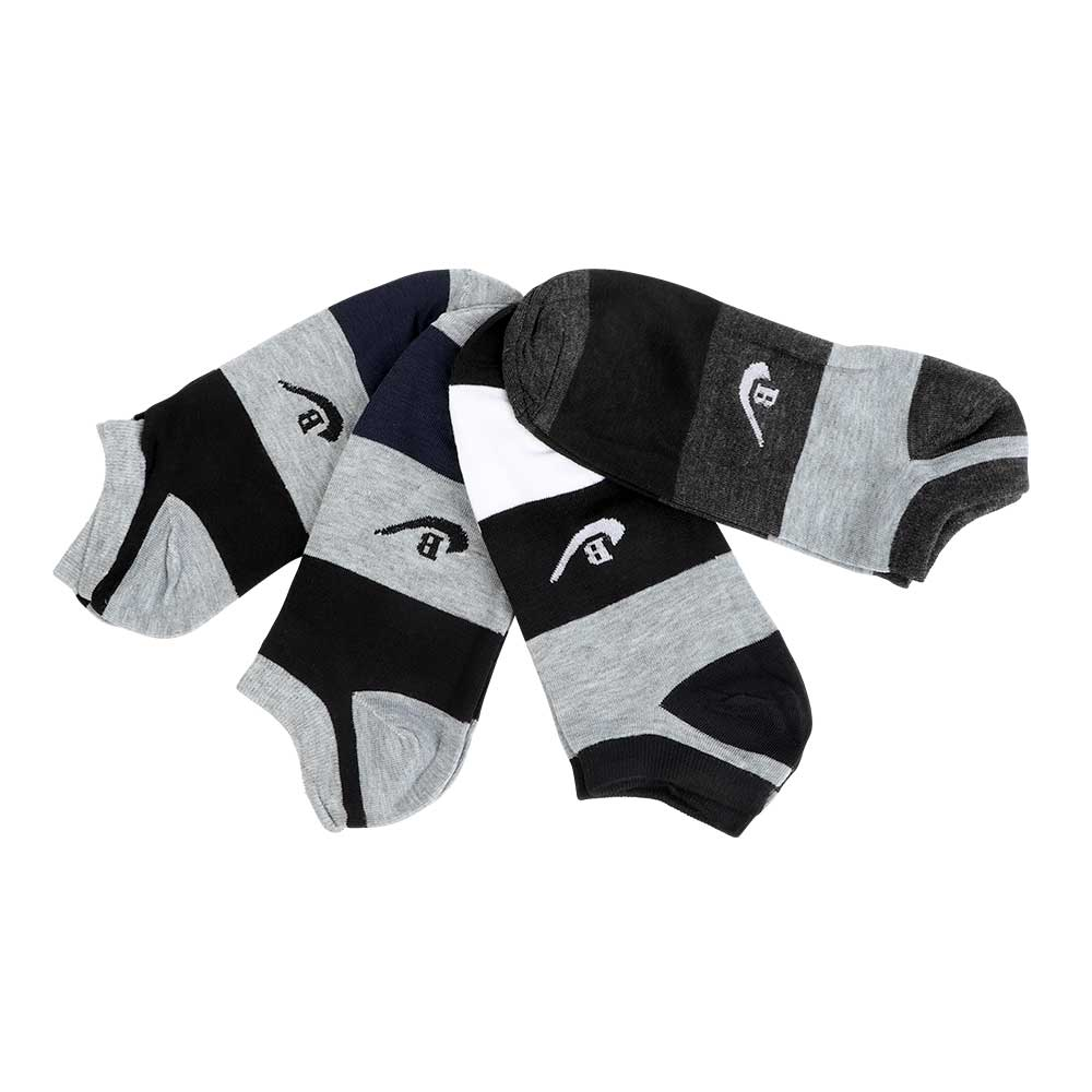 A Set Of Short Socks For Men Decorated With 3 Colors - 4 Pieces متجر 15 وأقل