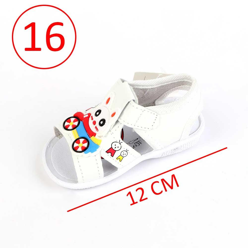 حذاء أطفال بصافرة مقاس16 لون أبيض متجر 15 وأقل