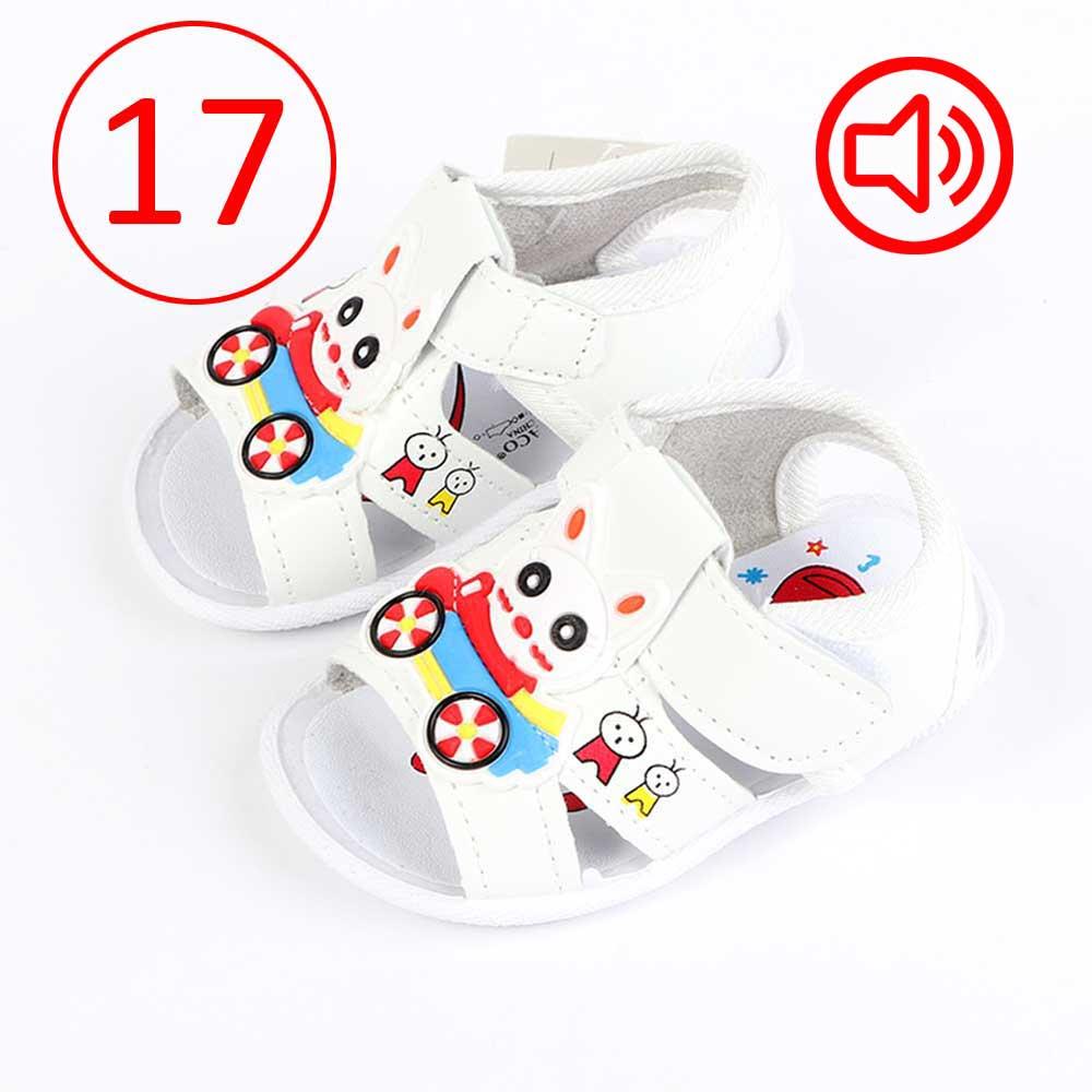 حذاء أطفال بصافرة مقاس17 لون أبيض متجر 15 وأقل