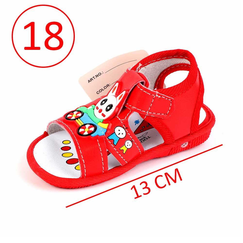 حذاء أطفال بصافرة مقاس18 لون أحمر متجر 15 وأقل