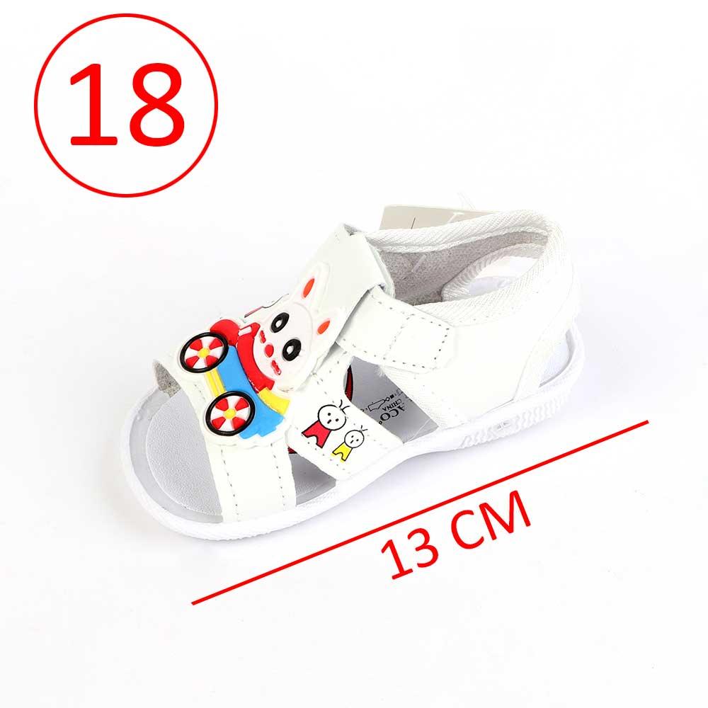 حذاء أطفال بصافرة مقاس18 لون أبيض متجر 15 وأقل