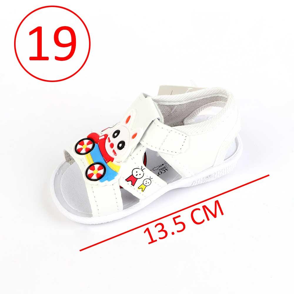 حذاء أطفال بصافرة مقاس19 لون أبيض متجر 15 وأقل