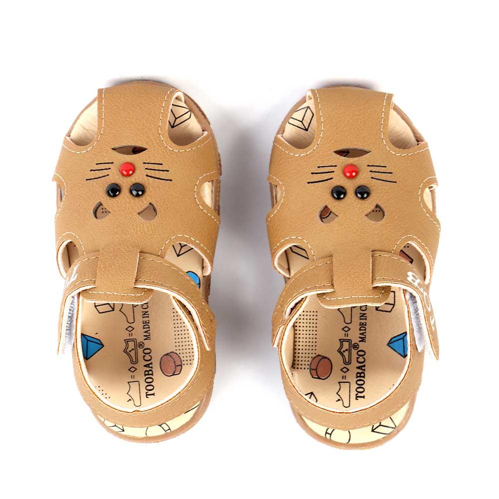حذاء أطفال مغلق مقاس 16 لون بني متجر 15 وأقل