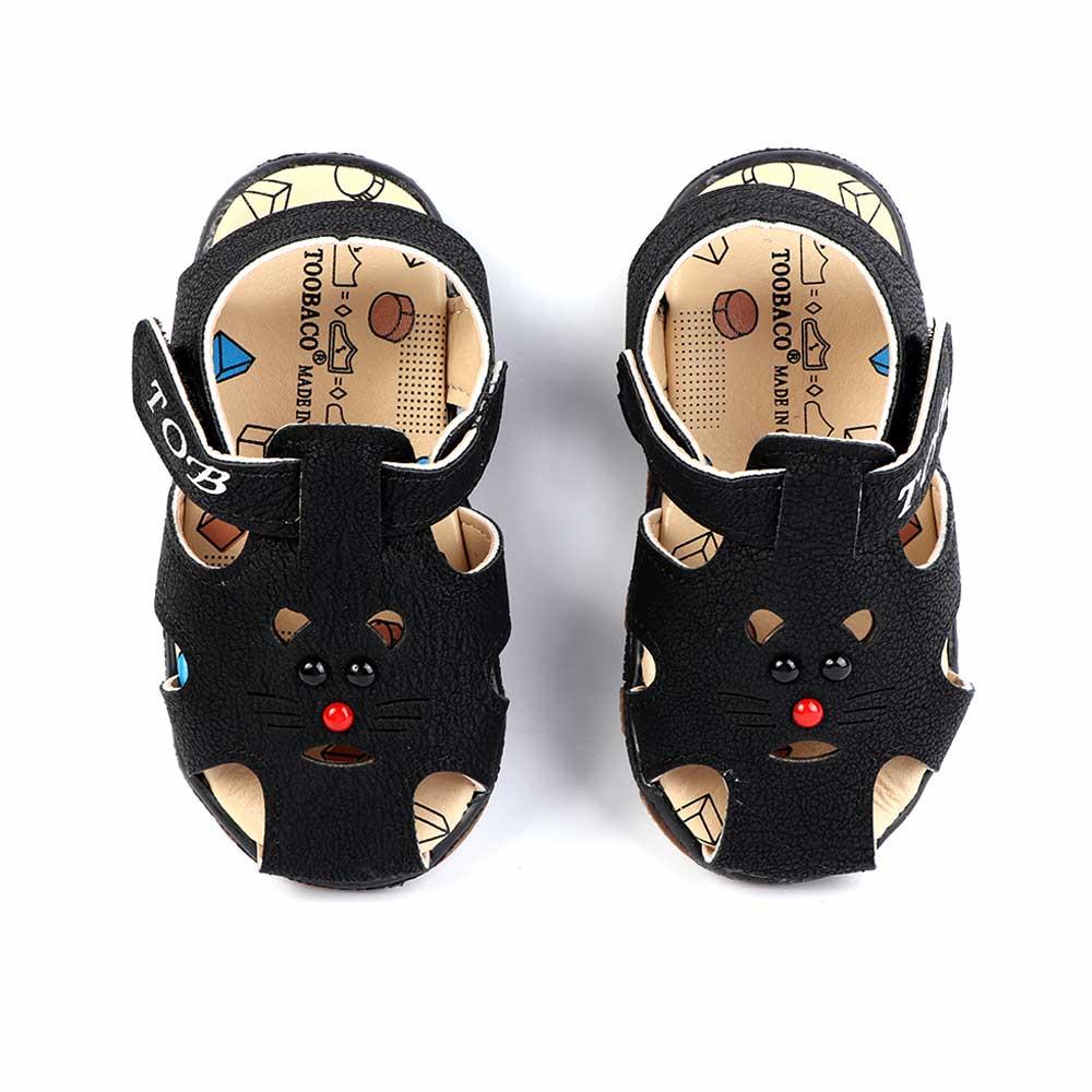 حذاء أطفال مغلق مقاس 17 لون أسود متجر 15 وأقل