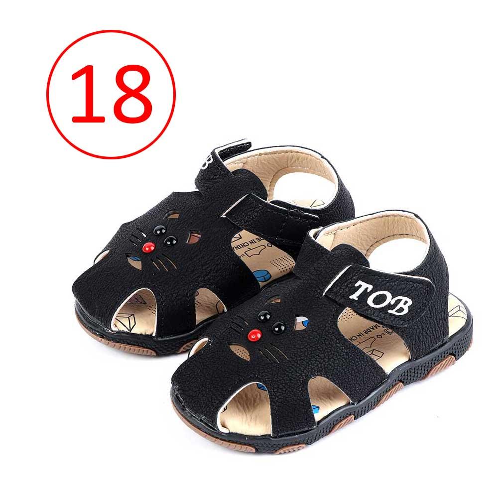 Children Closed Toe Shoes Size 18 Color Black متجر 15 وأقل