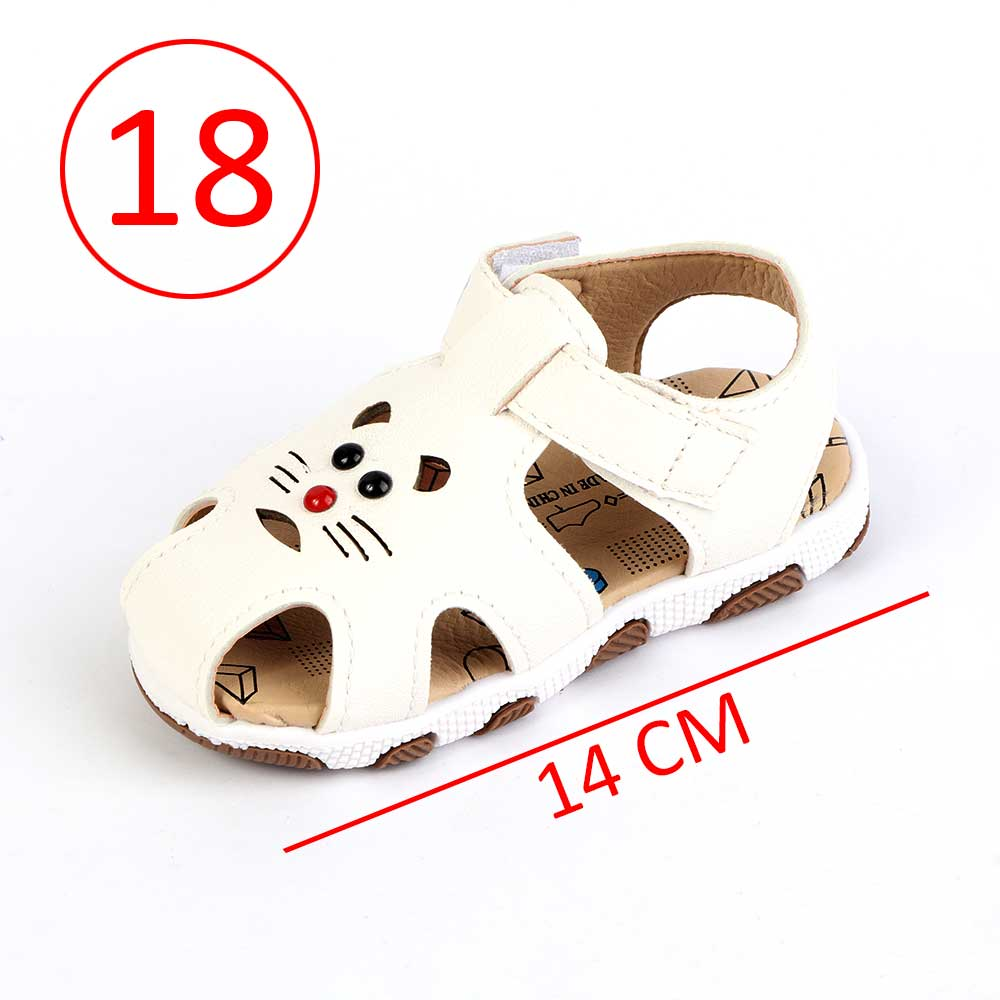 Children Closed Toe Shoes Size 18 Color White متجر 15 وأقل