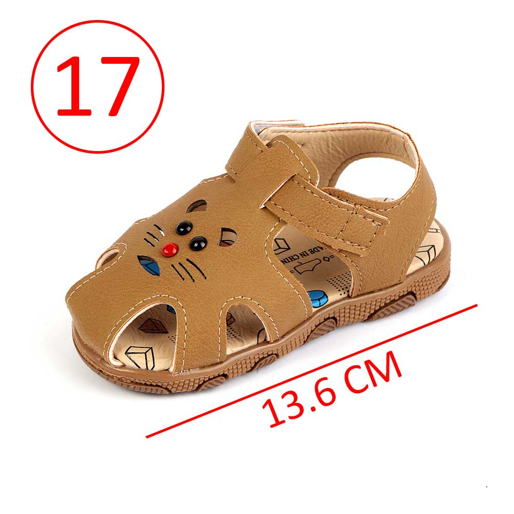 Children Closed Toe Shoes Size 17 Color Brown متجر 15 وأقل