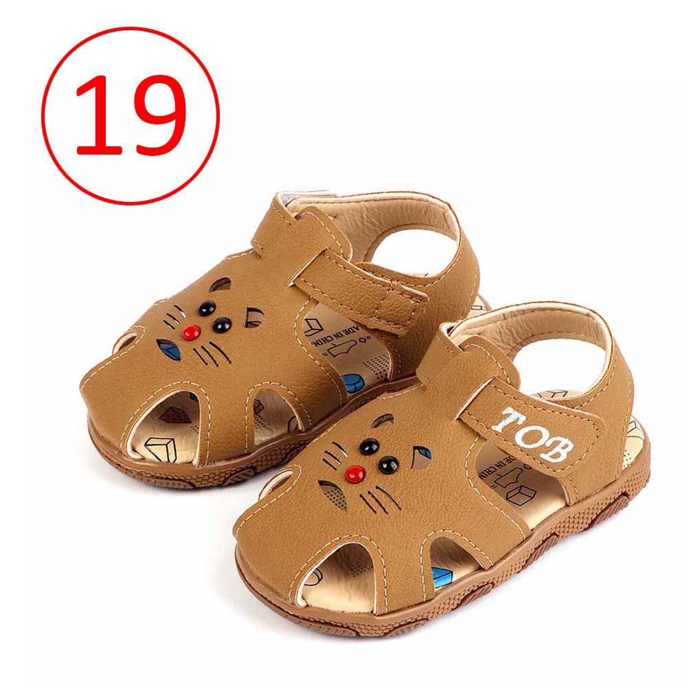 Children Closed Toe Shoes Size 19 Color Brown متجر 15 وأقل