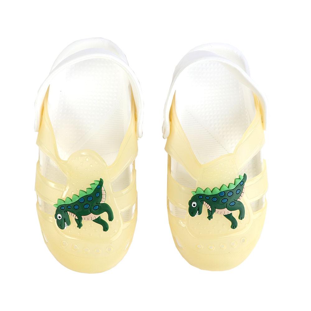حذاء كروكس للأطفال مضيئة مقاس 26 لون أصفر متجر 15 وأقل