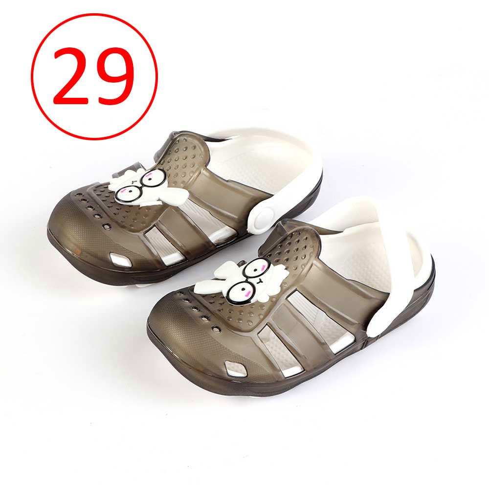 حذاء كروكس للأطفال مضيئة مقاس 29 لون أسود متجر 15 وأقل
