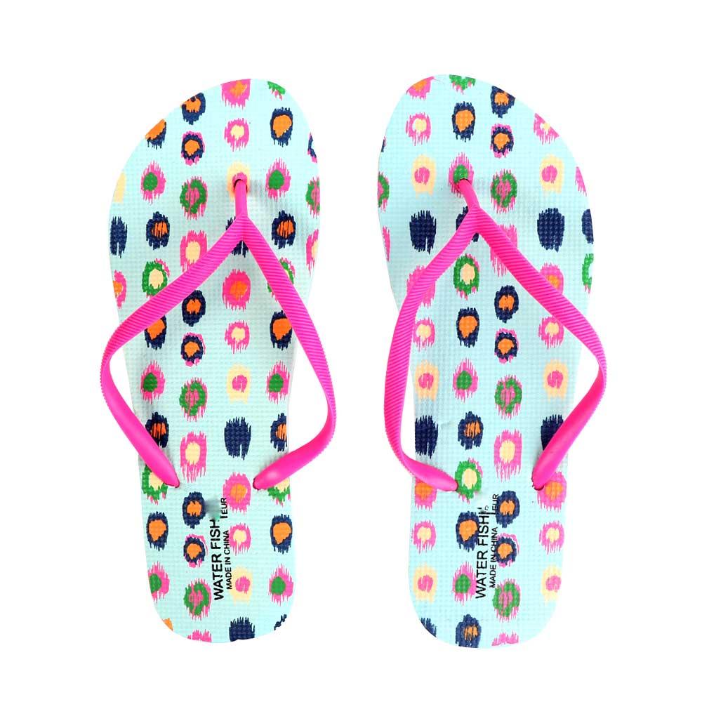 حذاء سيدات بنقاط ملونة مقاس 40 لون أزرق متجر 15 وأقل