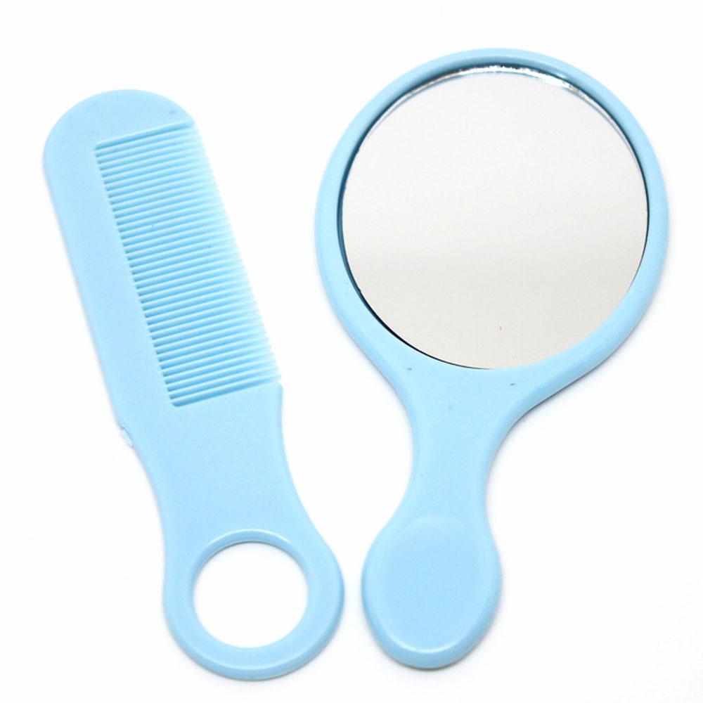 مرآة صغيرة مع فرشة شعر شخصية لول - ازرق متجر 15 وأقل