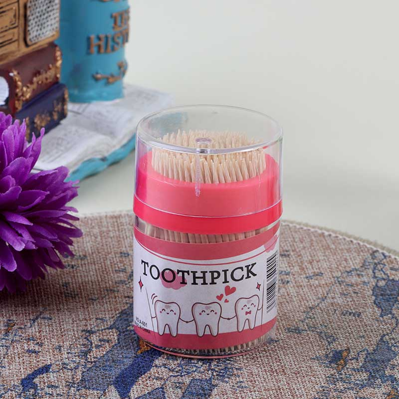 A pack of 200 toothpicks, pink color متجر 15 وأقل