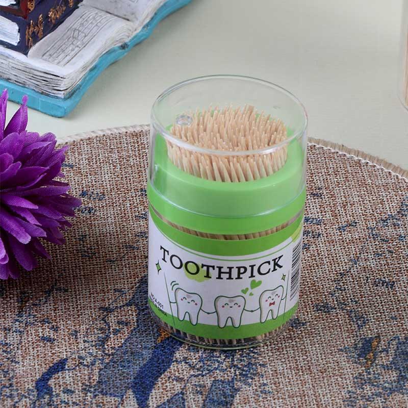 عبوة اعواد تنظيف الاسنان مكونة من 200 حبة لون اخضر متجر 15 وأقل