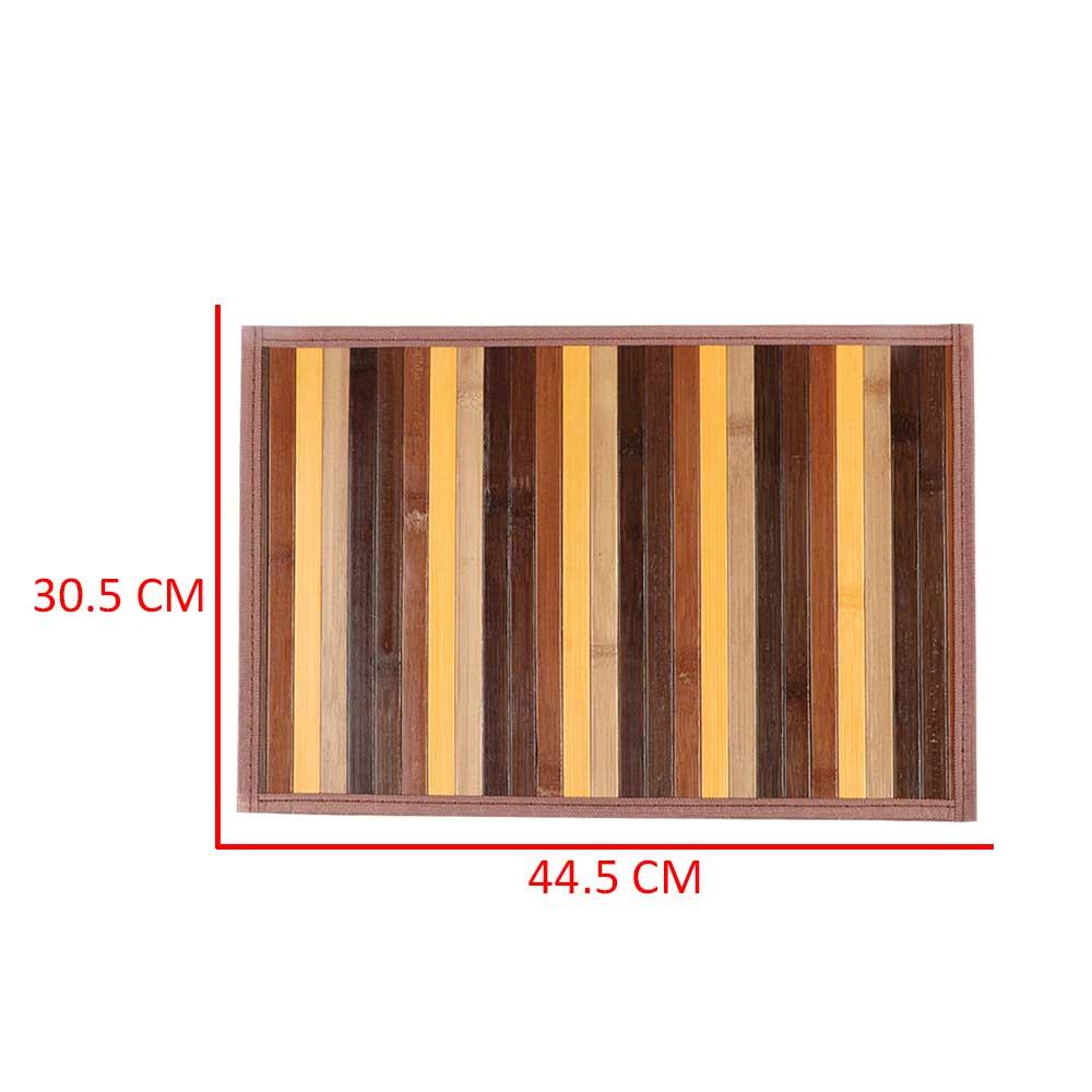 مفرش اطباق (كوستر) من الخيزران ملون خشبي مختلف متجر 15 وأقل