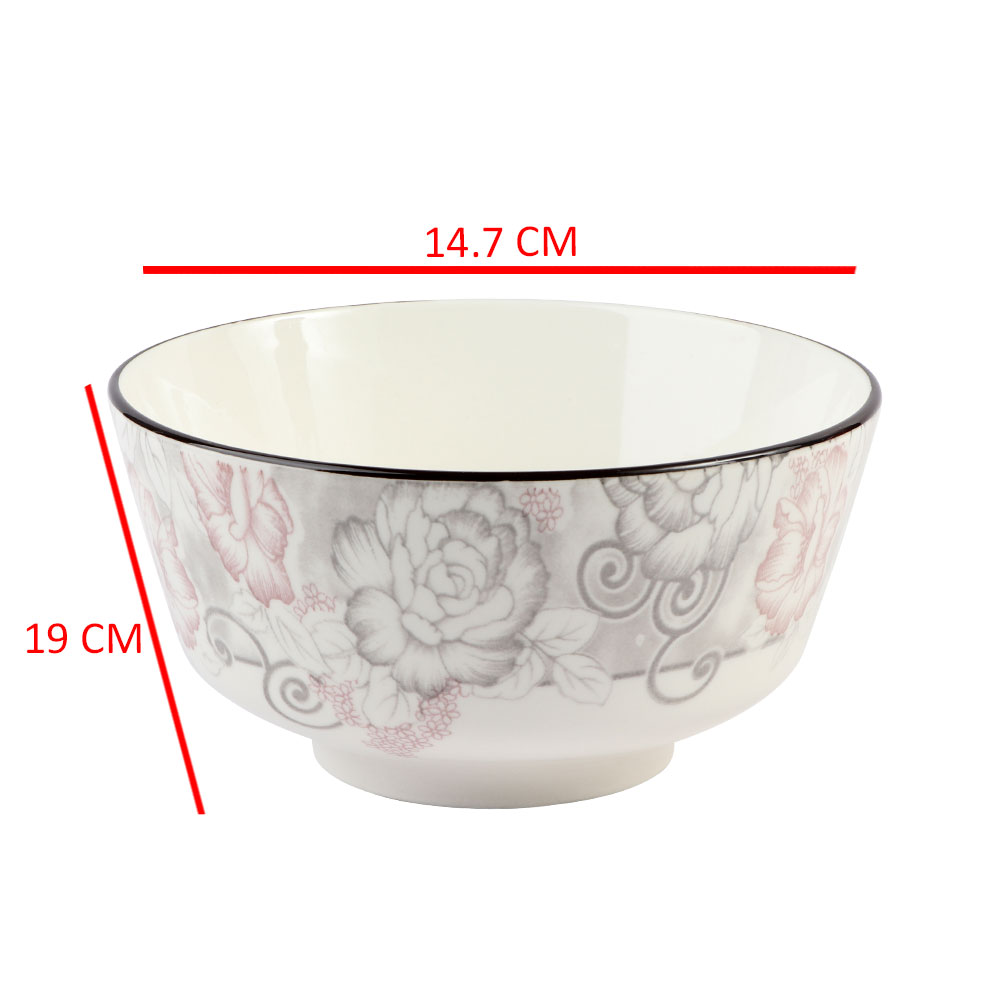 A Deep Circular Dish Decorated With Flowers متجر 15 وأقل