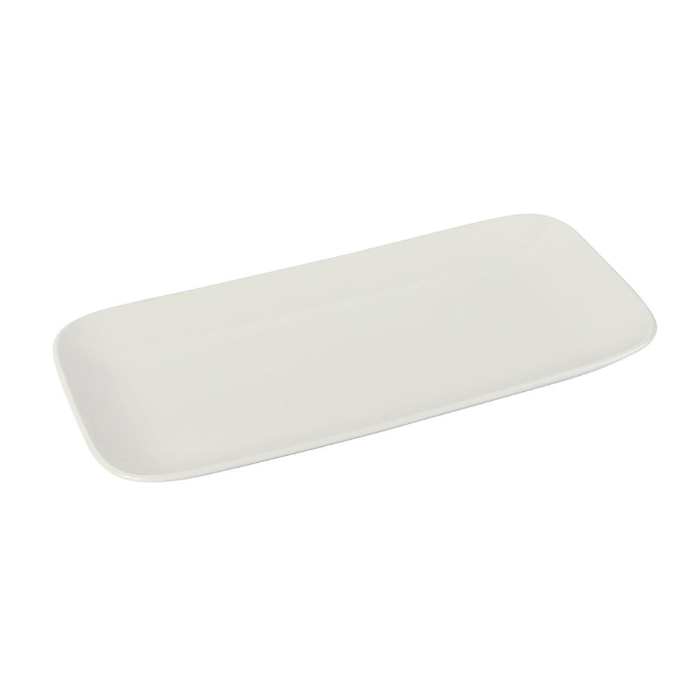 Ceramic Serving Dish Rectangular Color White متجر 15 وأقل