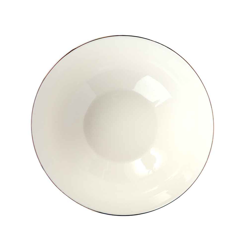 A Deep Circular Porcelain Dish Decorated With Flowers متجر 15 وأقل