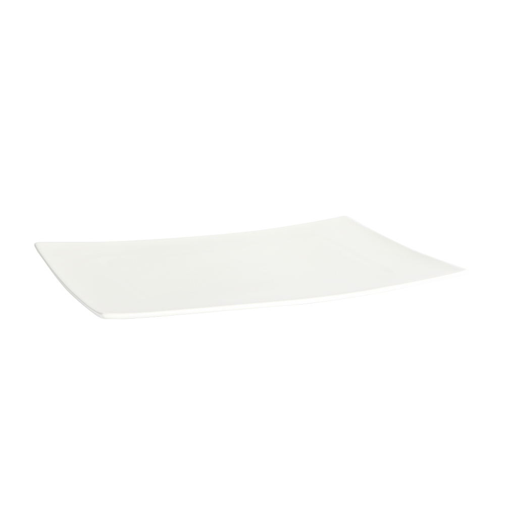صحن سراميك مستطيل للتقديم لون أبيض 28×20 سم متجر 15 وأقل