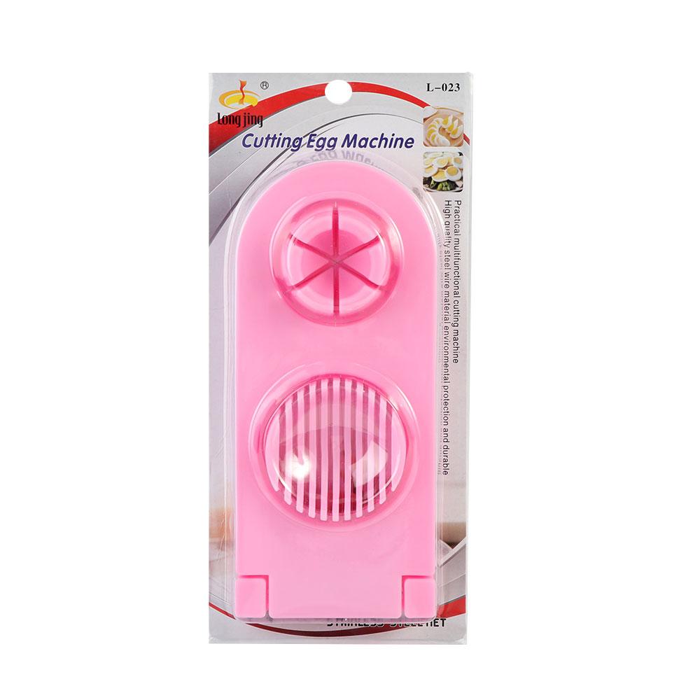 Plastic Egg Slicer 2 In 1 Color Pink متجر 15 وأقل