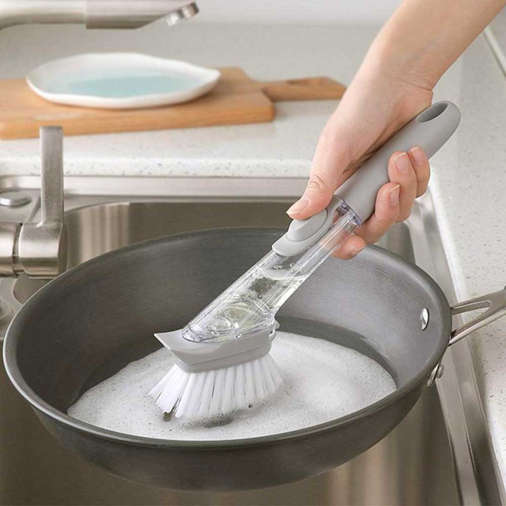 Self-filling Liquid Soap Dish Cleaning Brush With Sponge متجر 15 وأقل