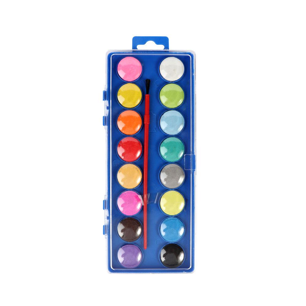 ألوان مائية من 16 لوناً مع فرشاة متجر 15 وأقل