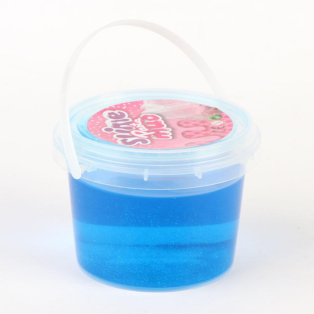 Glitter Gel Slime Putty for Kids 250 Grams Color Blue متجر 15 وأقل