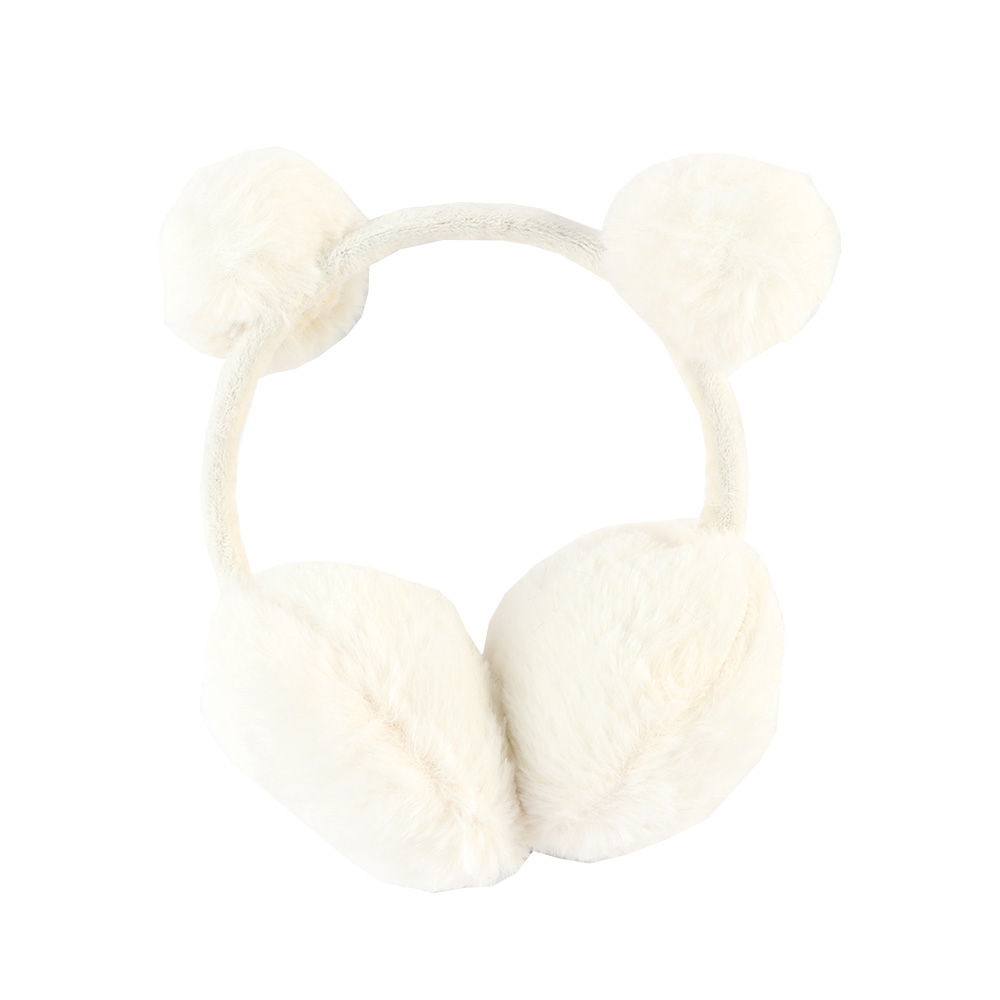 غطاء للأذنين للأطفال فرو لون أبيض متجر 15 وأقل