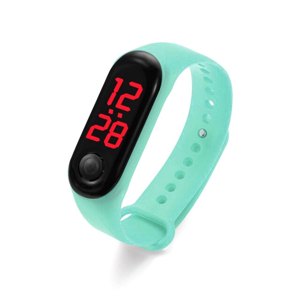 ساعة يد سيليكون رياضية للأطفال لون تيفاني متجر 15 وأقل