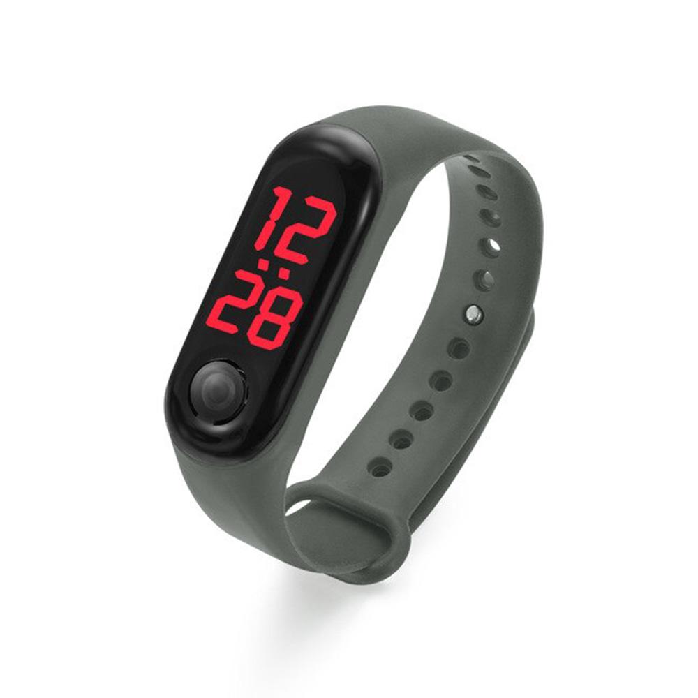 sport silicone wrist watch for kids Color Grey متجر 15 وأقل