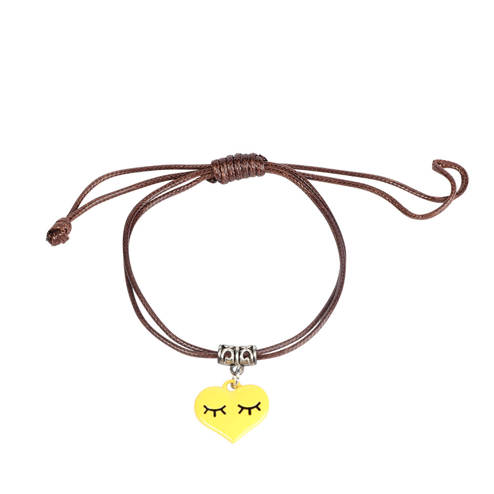 Girl's Leather Bracelets With Yellow Heart متجر 15 وأقل