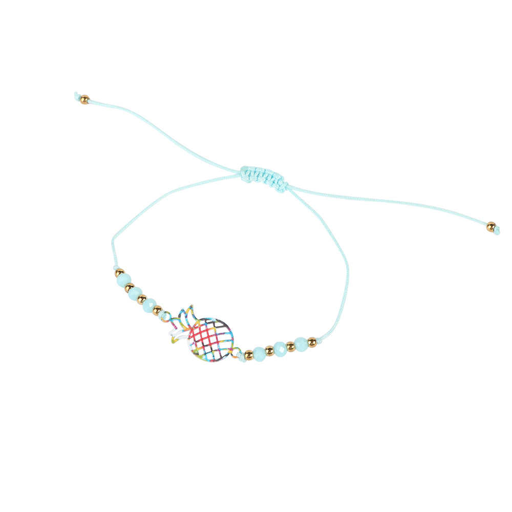 Fabric Bracelets Decorated With Pineapple Fruit Color Sky Blue متجر 15 وأقل