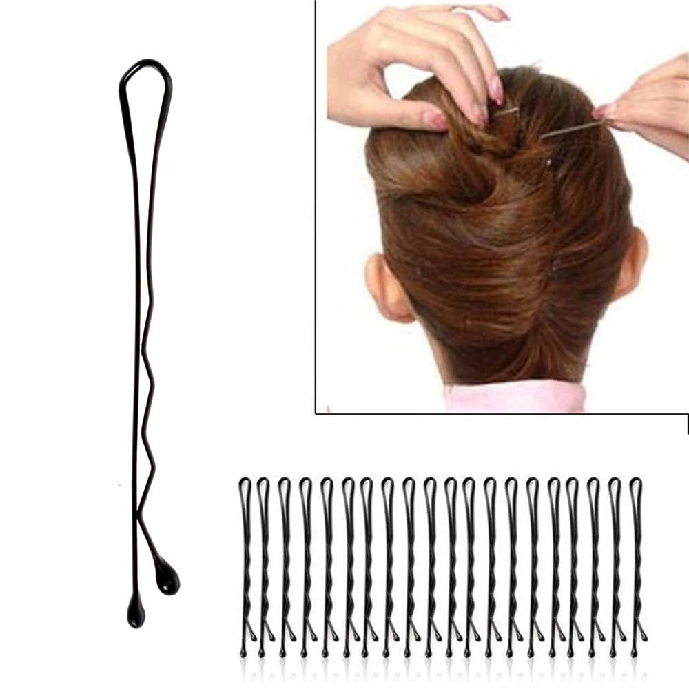A Set Of Hair Pins Large Size Color Black متجر 15 وأقل