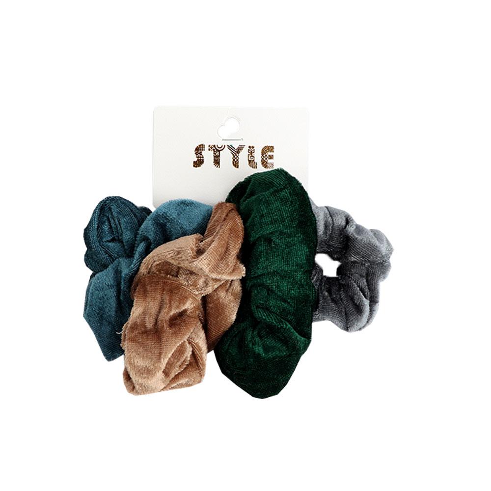 ربطات شعر مخملية ملونة 4 قطع متجر 15 وأقل