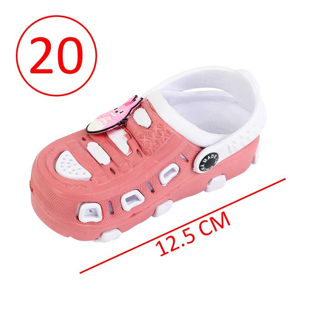 حذاء كروكس للأطفال مقاس 20 لون وردي مع أبيض متجر 15 وأقل