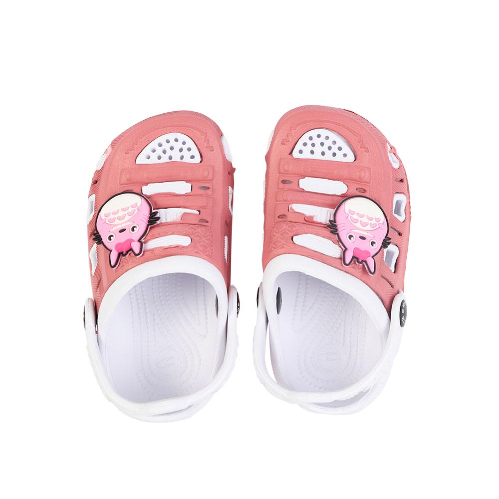 حذاء كروكس للأطفال مقاس21 لون وردي مع أبيض متجر 15 وأقل